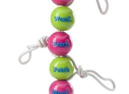 Fetch Ball with Rope von Planet Dog aus der erfolgreichen Produktreihe Orbee-Tuff gibt es bei WILD HAZEL in pink und grün