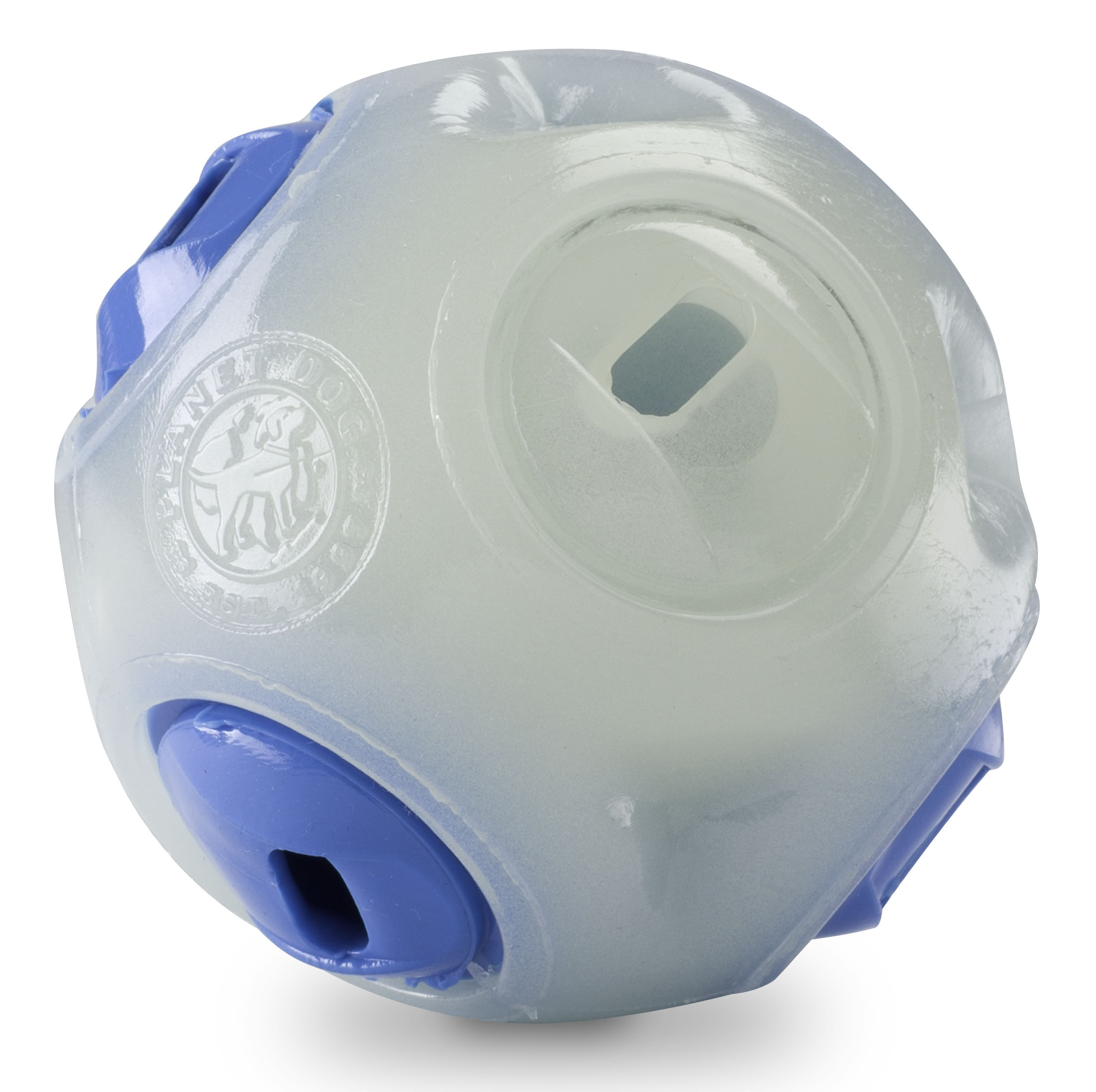 Planet Dog Orbee-Tuff Glow in the Dark Whistle Ball bei WILD HAZEL
