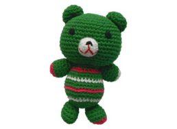 Pepper's Choice Teddybär in grün mit Squeaker   Hundespielzeug bei WILD HAZEL