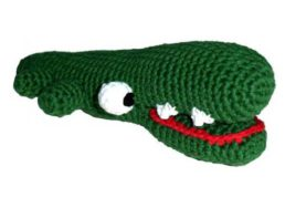 Pepper's Choice: Handgehäkeltes Hundespielzeug Krokodil mit Squeakerbei WILD HAZEL