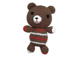 Pepper's Choice Teddybär in braun mit Squeaker   Hundespielzeug bei WILD HAZEL